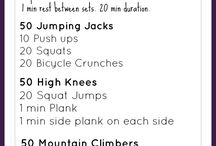 Workout at Home / Ideas for home workouts requiring little to no equipment.