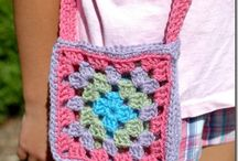 crochet bags and stuff