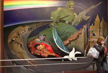 Denver Airport Murals Conspiracy / Leo Tanguma's paintings in the denver airport