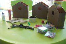 Casa Nido / Manualidades para niños a partir de 4 años.