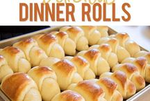 Breads, rolls, biscuits / by Maddie L