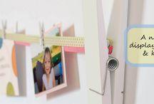Ribbon Gallery / home decor, art display, photo display