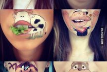 funny mouth art