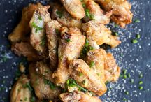 Baked chicken wings with Parmesan and garlic