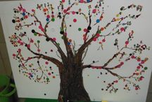 Button tree / Button tree created by preschoolers