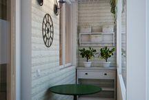 Bucătăria în balcon
