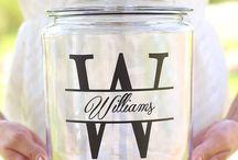 mason jars personalizing ideas
