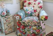 Slipcovers, Pillows, & Such / Cottage, quilt, shabby chic, romantic, vintage, antique, white slipcovers and pillows / by Rahna Summerlin Blooming In Chintz