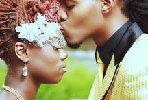 Natural Hair Brides With Up-Do Hairstyle / Black women with natural hair on their wedding day