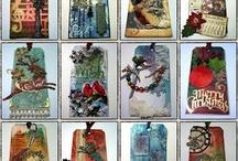 Christmas inspiration  / Fab tim holtz influenced Christmas style