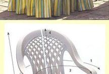 vestidos  para sillas rima