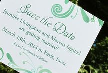 Spring & Summer Save the Dates / Save the dates with leafy or floral elements;  Things that work for spring and summer weddings.