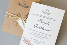 Convites de Casamento Aquarela