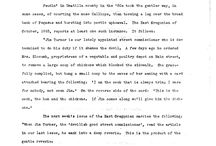 Federal Writer's Findings - FWP/WPA