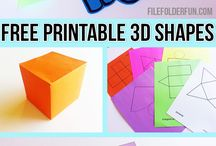 Maths 3D nets and shapes