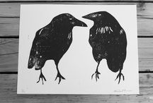 Crow Woodcut Inspiration / by Renae Brewer Wood