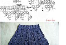 szydełko spódnice, crochet, skirts