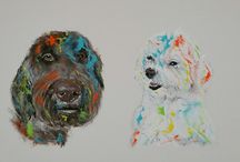 Multi Pet Portraits / We love to celebrate your entire fur family! Get the whole family captured one one canvas with special sizing designed just for multiple pets! Head to mypoochface.com to get started today!