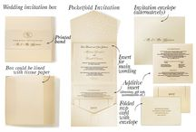 Wedding invitation kits / Wedding invitation kits - optimal all-in-one wedding stationery solution for those who want to keep it consistent. Get a pocketfold invitation, an RSVP card with envelope, an additional insert, an  invitation envelope or a box for cards lined with tissue paper - all details in one luxury style.