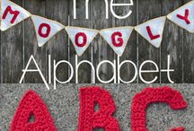 crochet alphabet, numbers