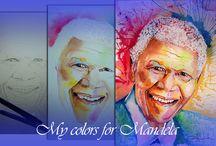 Nelson Mandela / My colors for Mandela: watercolor