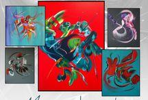 Exposition de peintures abstraites Martine BELFODIL à Gujan Mestras