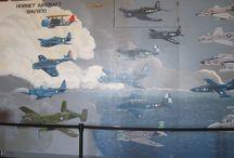 Tour of the Hangar Deck / Hangar Deck aboard the USS Hornet.