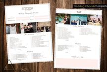 Event/Photography Checklists & Timelines