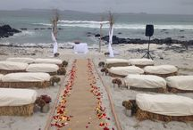 Matri playero / Boda hippie chic en la playa