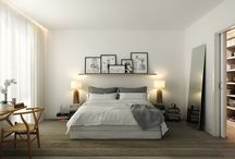 bedroom above the bed