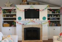 Vision board for living room.  / Time to get it in shape and make this house a home! / by Stacey Meredith-Tarter