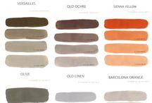 Annie Sloan paint technique charts / Mix color
