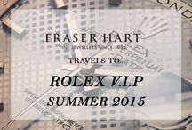 Travels To... Rolex V.I.P Summer 2015 Events / Our V.I.P guests were invited to an exclusive viewing of the new Baselworld 2015 collections at our Summer Rolex V.I.P Red Carpet Events.