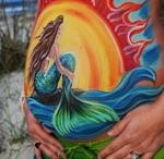 Pregnancy belly paintings