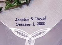 Wedding Keepsakes and Gifts -Handkerchiefs and Blankets Custom Made to be Heirloom Wedding Keepsakes / Wedding Handkerchiefs Hankerchiefs Hankys Hankies and Throw Blankets Custom Embroidered Personalized to be treasured and become wedding heirloom keepsakes. / by Li'l Inspirations - Personalized Wedding Handkerchiefs, Blankets and One of Kind Baptism Gifts Custom Embroidered