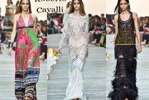 Roberto Cavalli / Roberto Cavalli collezione e catalogo primavera estate e autunno inverno abiti abbigliamento accessori scarpe borse sfilata donna.