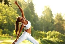 Yoga / Yoga, a nice a form of exercise and toning. Good for your overall health.