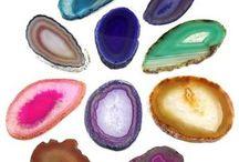 colored agate slice