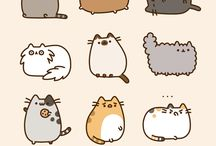 Crazy for Pusheen / Just because this kitty reminds me of my boyfriend. Hahaha