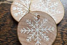 ornamente craciun lemn