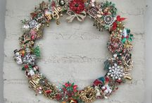 vintage Christmas brooches / by Becky Vogt