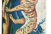 výšivky krížik tiger