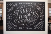 Typography / Beautiful words and works of art: old and new.