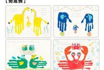 手形 足形アート