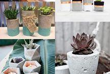 Fazer vasos de cimento