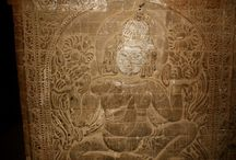 Historic wall carvings in South East Asia