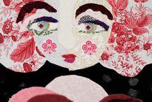 Art textile portrait