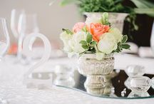 Coral - White - Silver Wedding