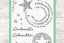 Sternenzauber / Eines unserer Lieblings#Stempel- Sets mit so vielen wunderschönen #Sternen. Lasst Euch inspirieren und gestaltet tolle #Weihnachtskarten