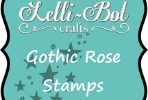 Gothic Rose Stamp Set / This stamp set goes with the gothic rose kit